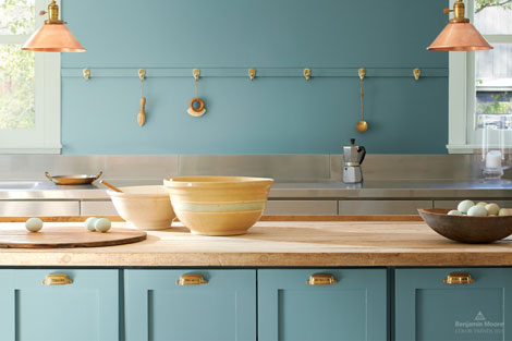 Reflect and Reset with the Benjamin Moore Colour of the Year 2021, Aegean Teal 2136-40.