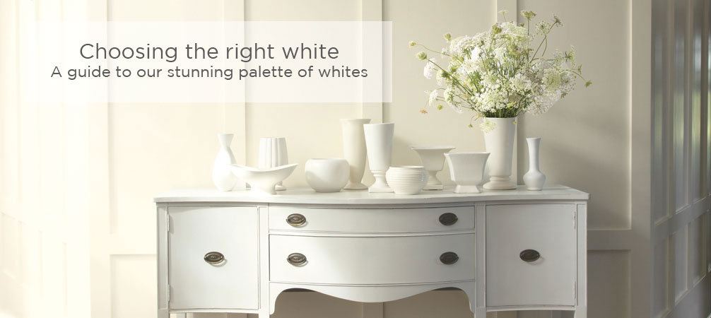 Choosing the right white. A guide to our stunning palette of whites.